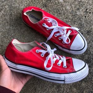 Red Converse Low Tops